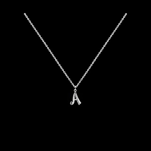 Necklace Letter A silver