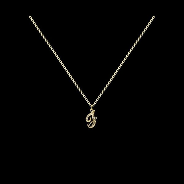 Necklace Letter F silver gold plated