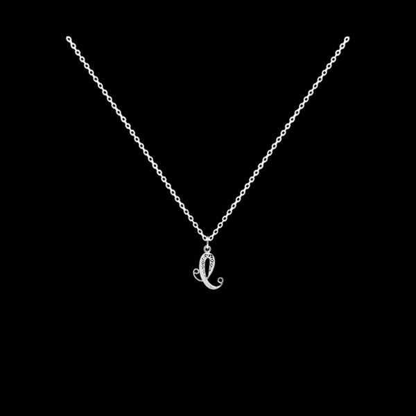 Necklace Letter C silver