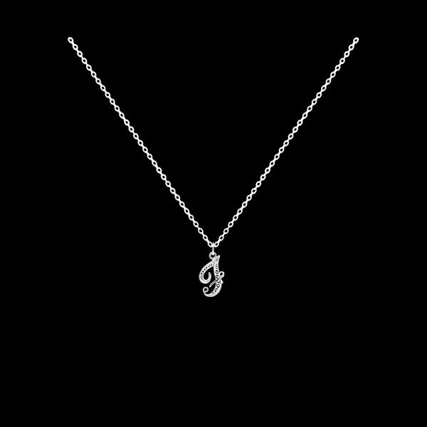 Necklace Letter F silver