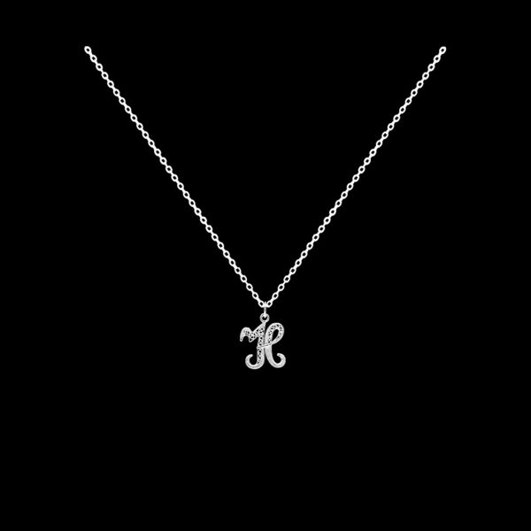 Necklace Letter H silver