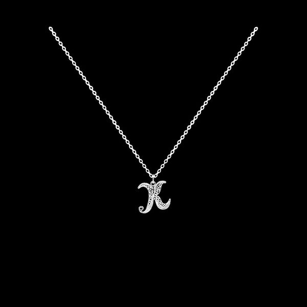 Necklace Letter K silver