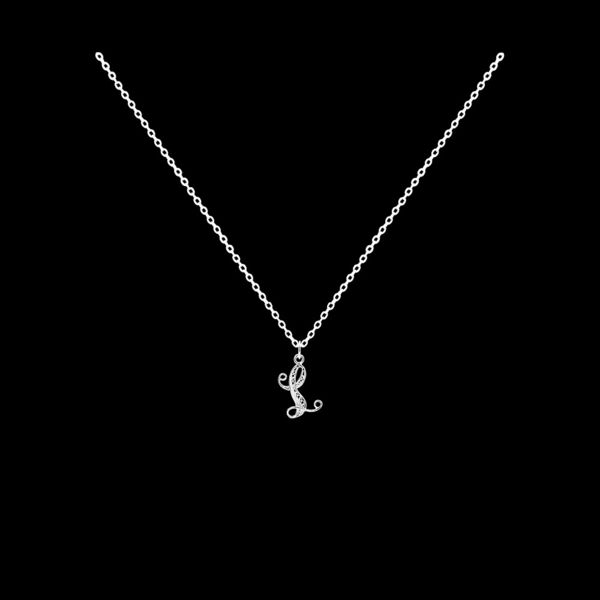 Necklace Letter L silver