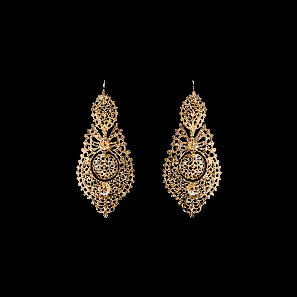 "Earrings ""To Queen"" with 7,5 cm."