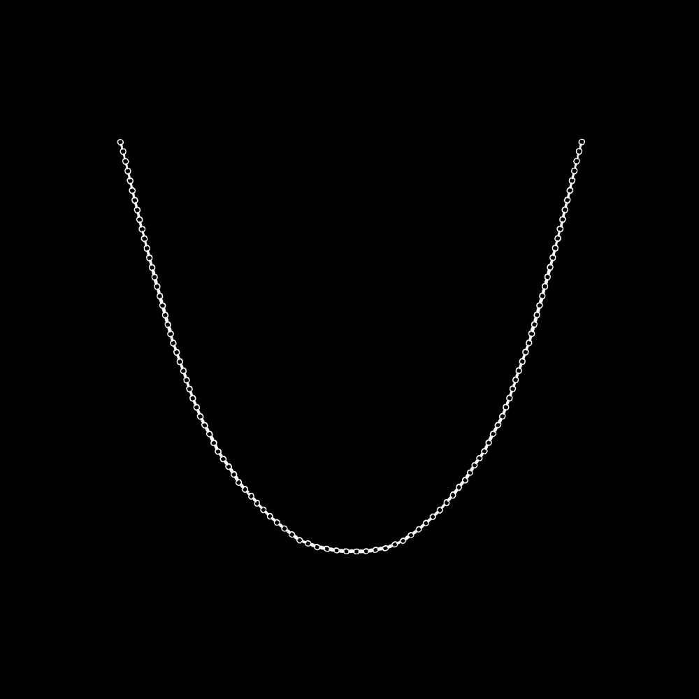 Necklace in Sterling Silver with 70 cm.
