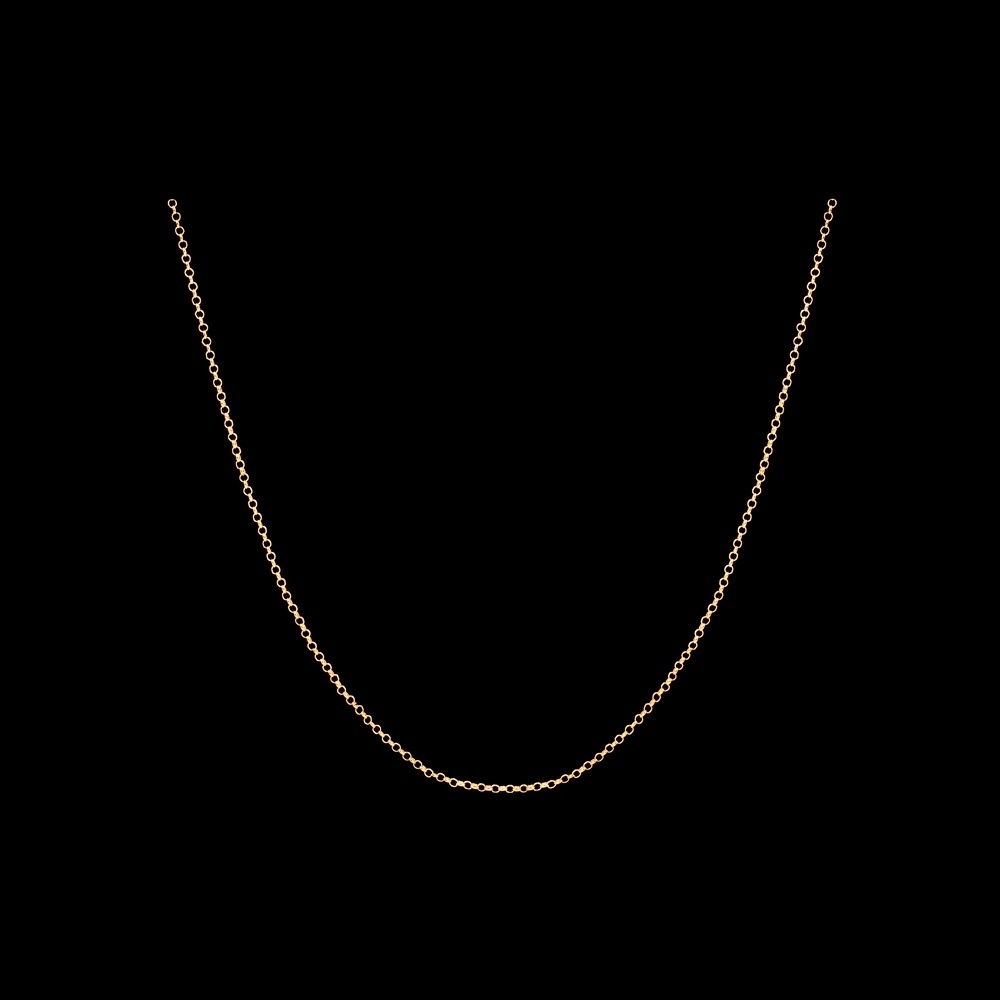 Necklace in Sterling Silver Gold plated with 70 cm.
