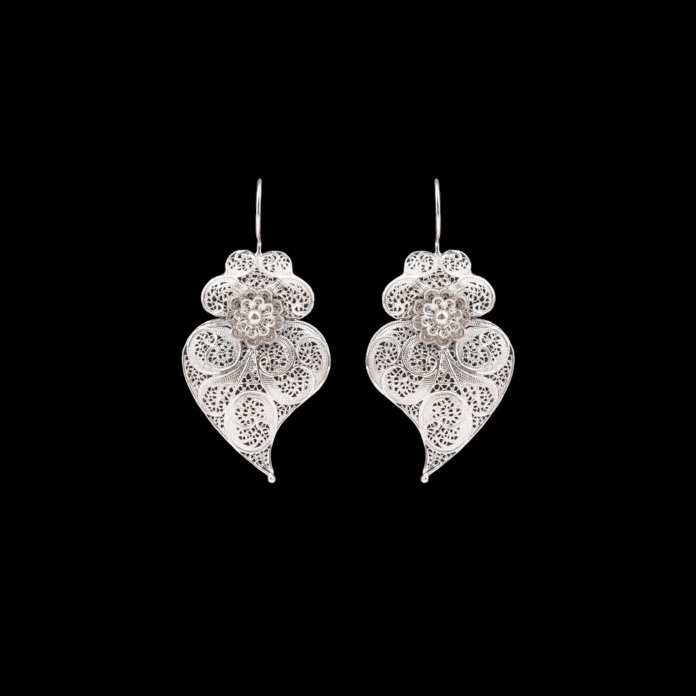 "Earrings ""Viana's Heart"" with 4 cm. Premium Collection."