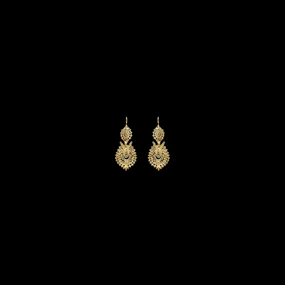 "Earrings ""To Queen"" with 2,5 cm."