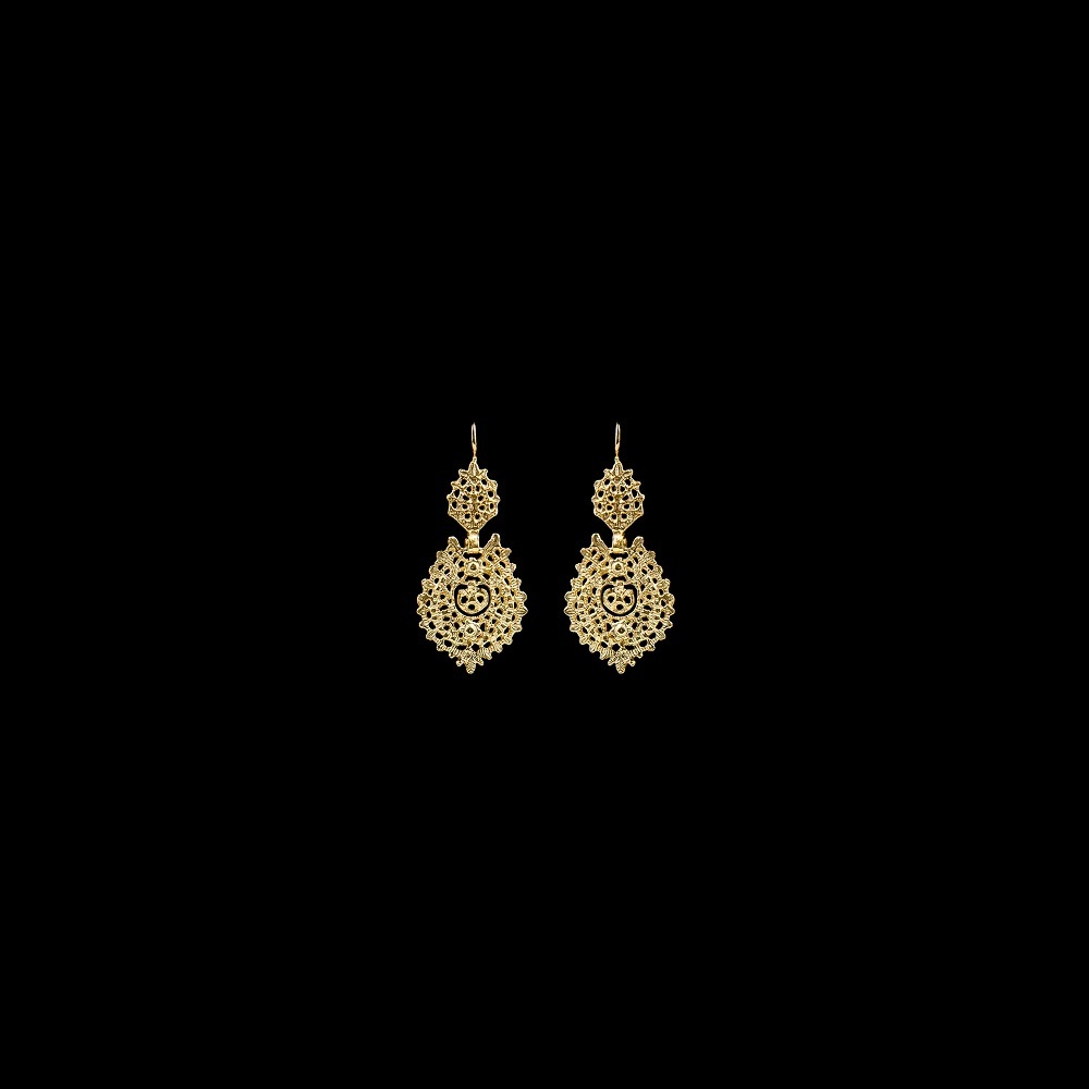 "Earrings ""To Queen"" with 3 cm."
