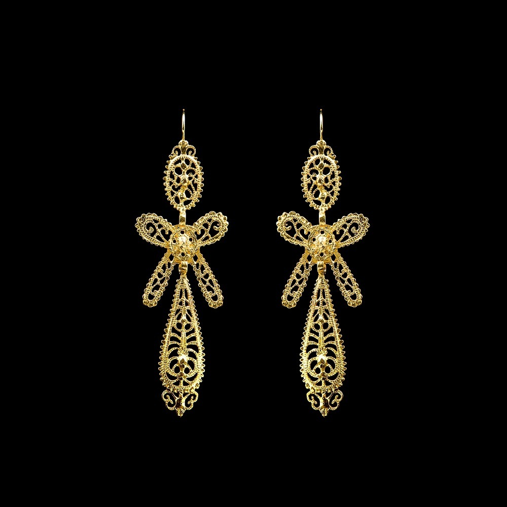 "Earings ""To King"" with 6,5 cm."