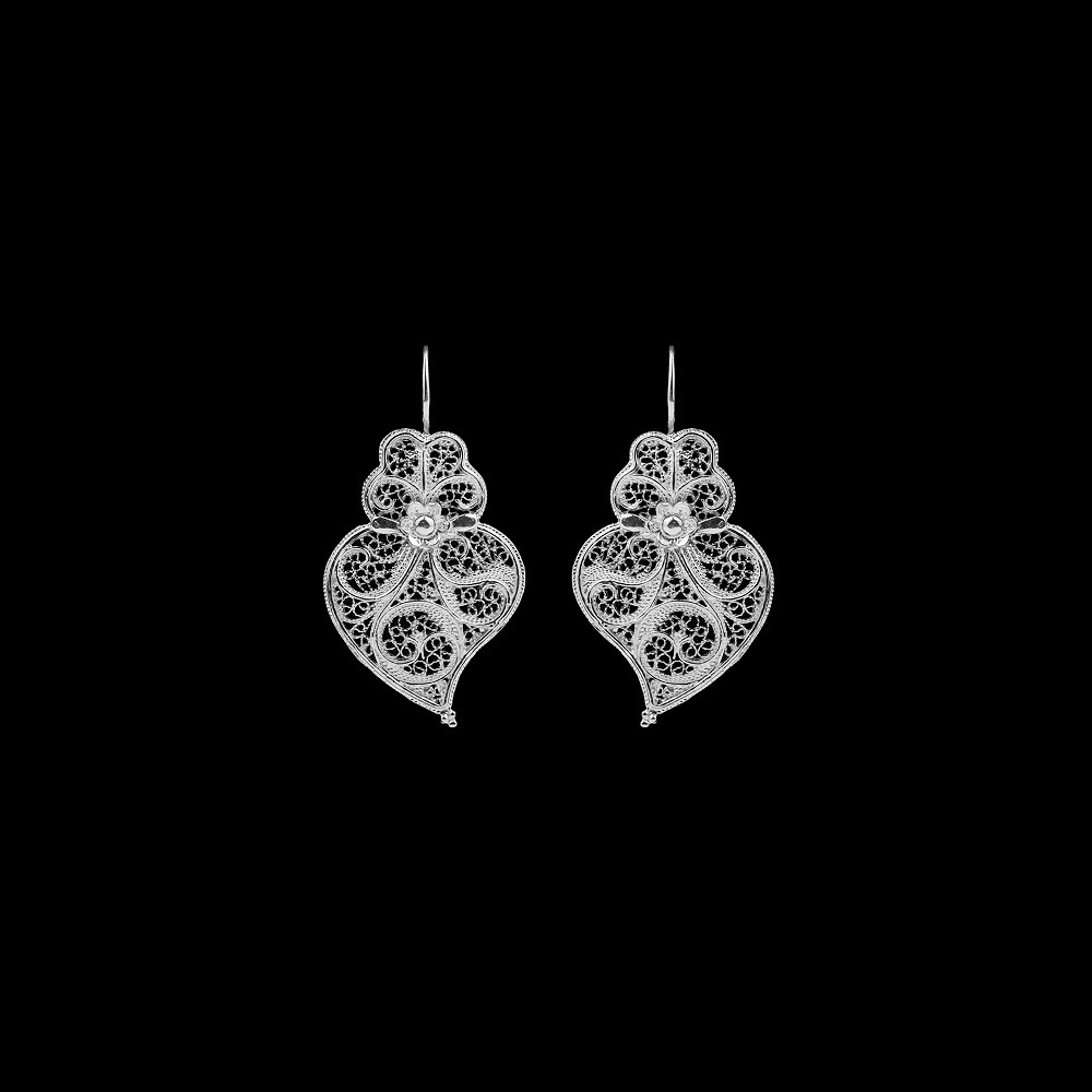 "Earrings ""Heart of Viana"" with 3 cm."