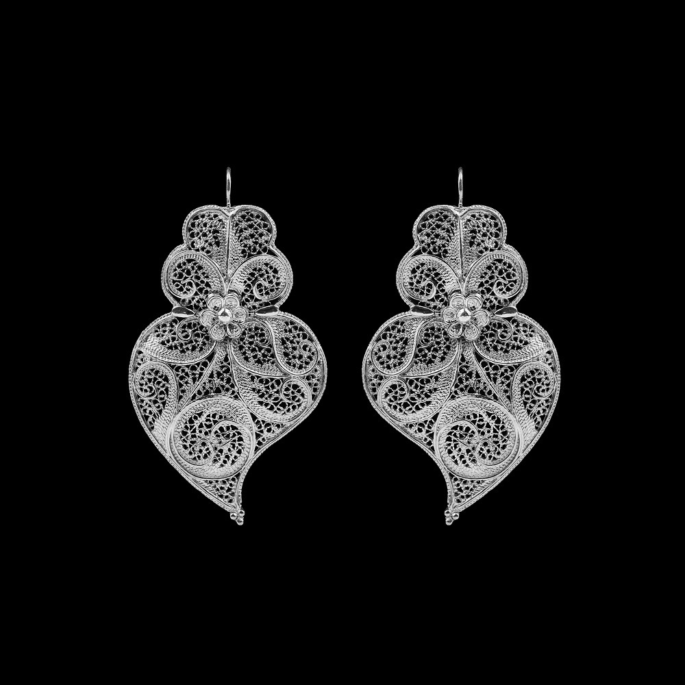 "Earrings ""Heart of Viana"" with 5 cm."