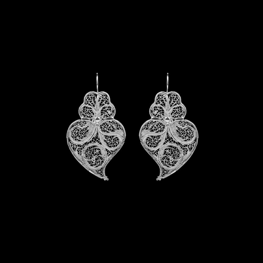 "Earrings ""Heart of Viana"" with 3,5 cm."