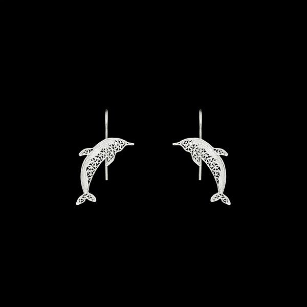 """Dolphin"" Earrings."