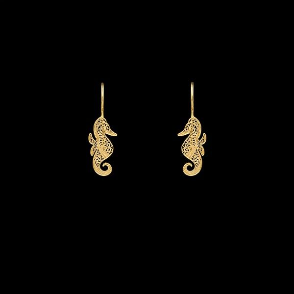"""Sea Horse"" Earrings."