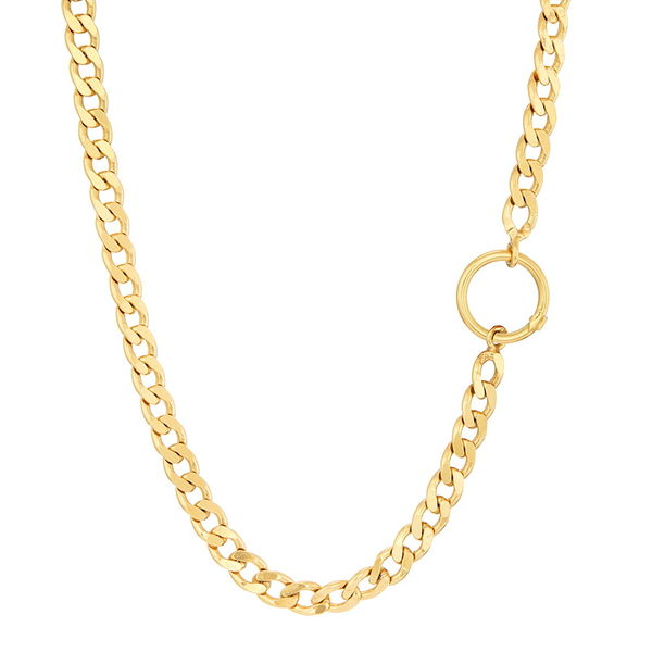 Necklace Vintage, Curb Chain, Silver Gold plated