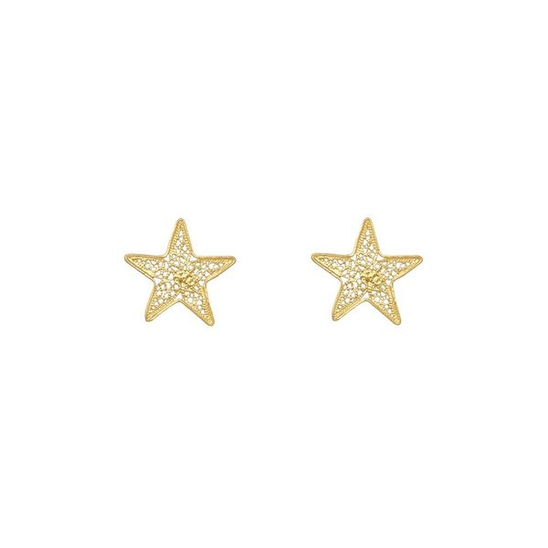 Star Earrings in Silver Gold Plated