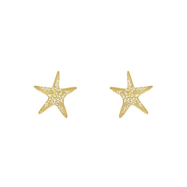 Sea Star Earrings in Silver Gold Plated