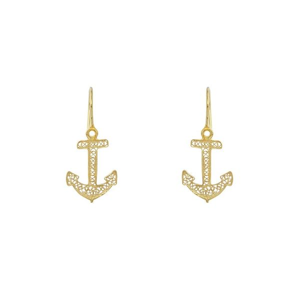Anchor Earrings in Silver Gold Plated