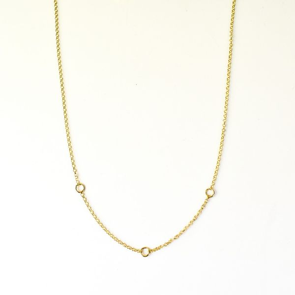 Charms Necklace in Silver Gold plated 42+3cm