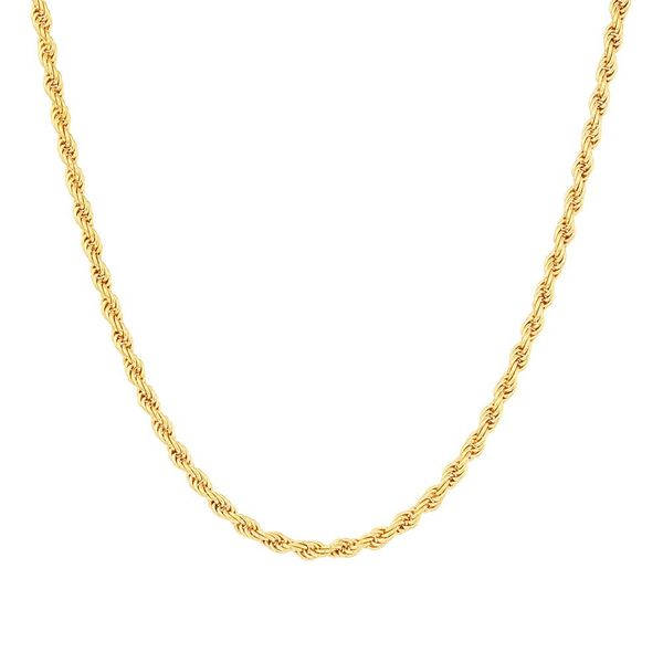 Necklace Silver Gold plated in Rope Chain