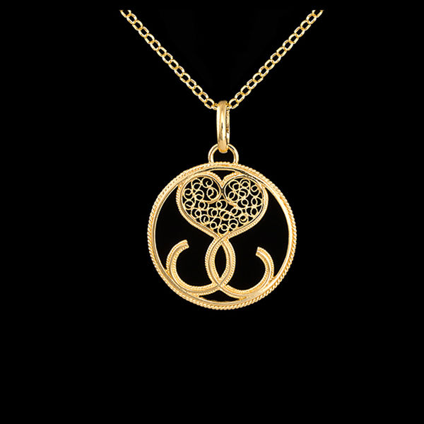 "Necklace ""ADN"" in Silver Gold plated"