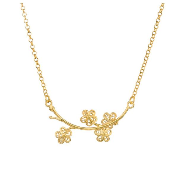 "Necklace ""Spring"" in Silver Gold plated"