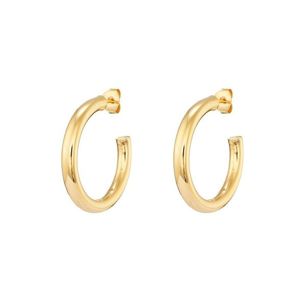 Hoops in Silver Gold Plated 3cm