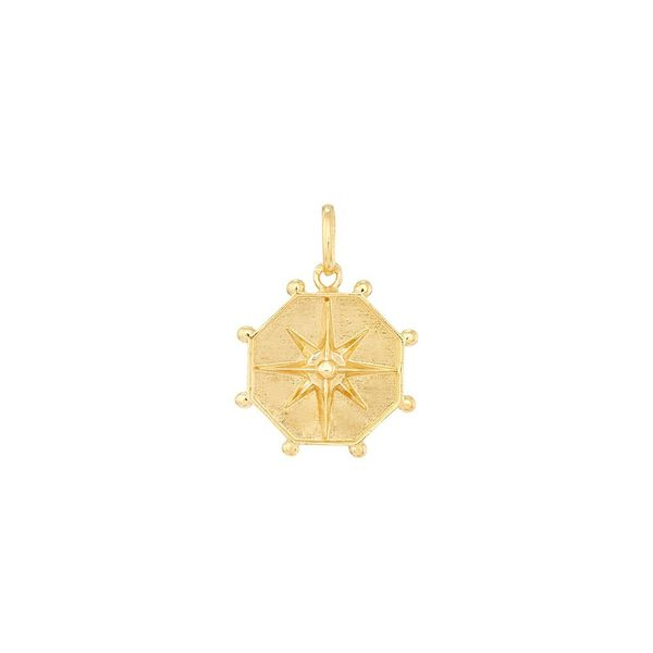 Medal of Wind Rose in Silver Gold Plated